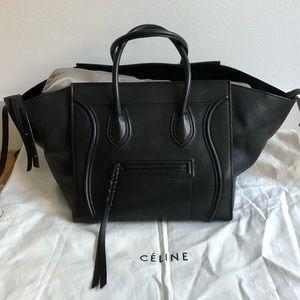 Celine Large Black Luggage Phantom Tote